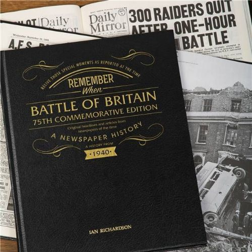 Personalised Battle of Britain Newspaper Book with gift box